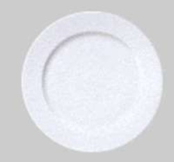 Patra White Round Rimmed Luncheon Plate, 23cm, 9010023