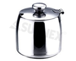 Superior Stainless steel lidded sugar bowl 300ml