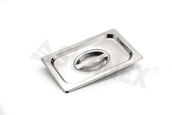 Sunnex Gastronorm food pan, flat lid 1/4 size.