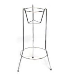Wine bucket floor stand, chrome plated.