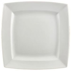 Vertex Ventana square plate with raised curved rim, 290mm