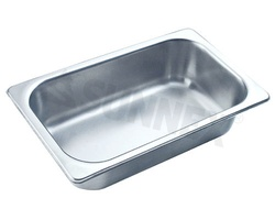 Sunnex Gastronorm food pan solid, 1/4 size, 65mm deep