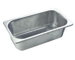 Sunnex Gastronorm food pan solid, 1/3 size, 100mm deep