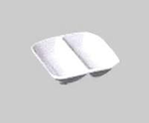 Patra White Square Divided Dish, 90mm sq. 902-6553