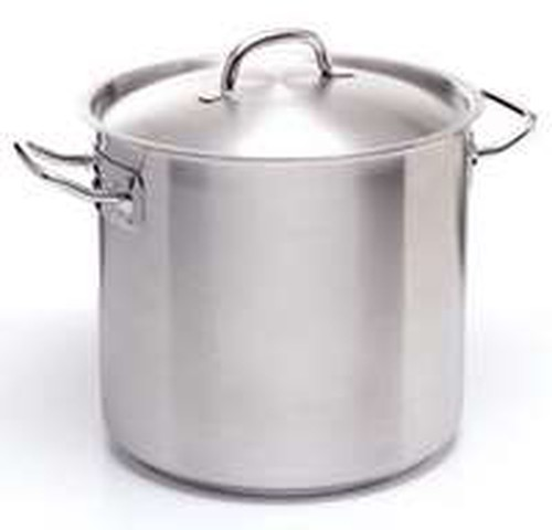 Stainless steel Stockpot 36L with aluminium sandwhich base 5mm thick and this base is induction ready.
