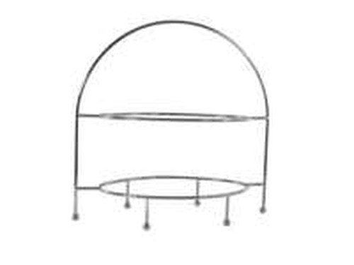 Oval Display Stand, 2 tier