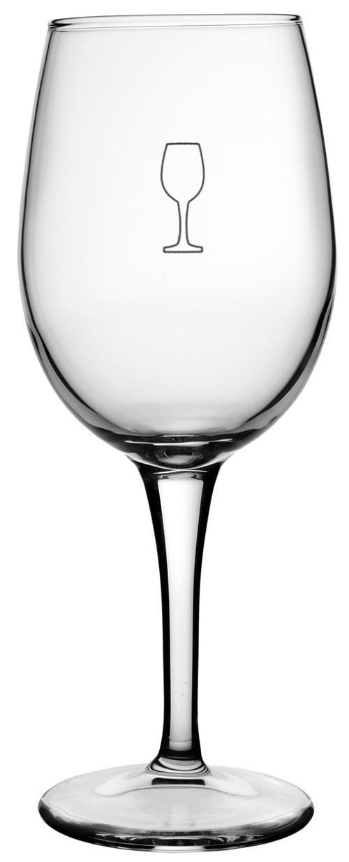 Bormioli Rocco Sara toughened wine glass, 360ml, with pour line @ 150 & 250 ml