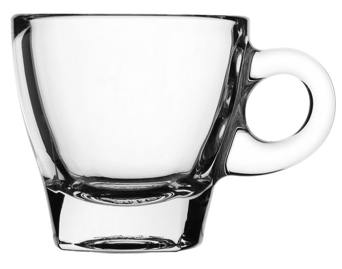 Caffe Espresso clear glass cup with handle, 70ml, 5915