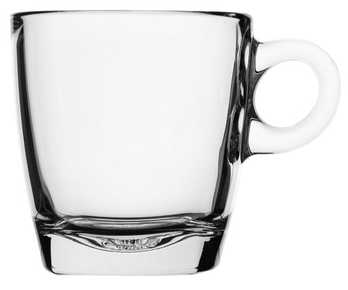 Caffe Cappuccino clear glass cup  with handle, 210ml, 5916