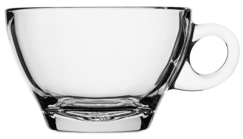 Caffe Latte clear glass cup with handle, 260ml, 5917