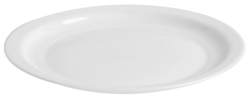 Performa round white rimmed lunch plate, 240mm