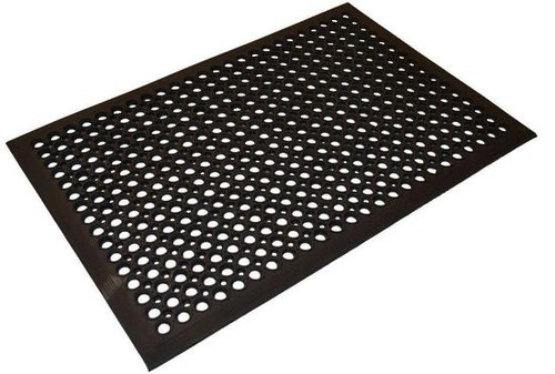 Safety Cushion black rubber mat, 1500 x 900 mm