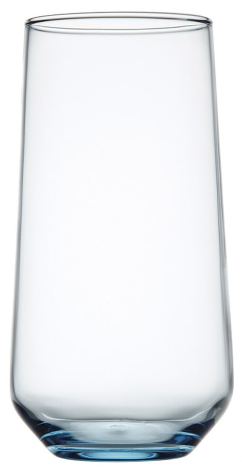 Allegra Blue coloured H/B tumbler, 470ml, 4523
