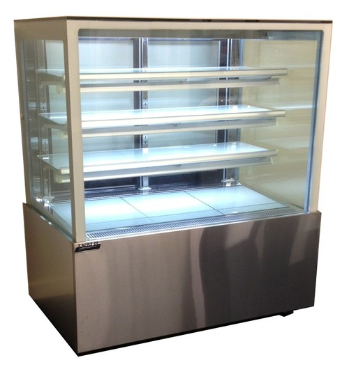 Frigrite rectangular cafe and bakery display cabinet 900mm long.