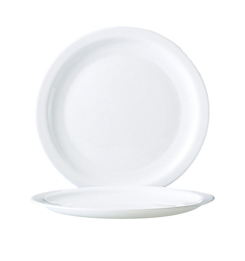 Hotelerie White narrow rim plate, 258mm