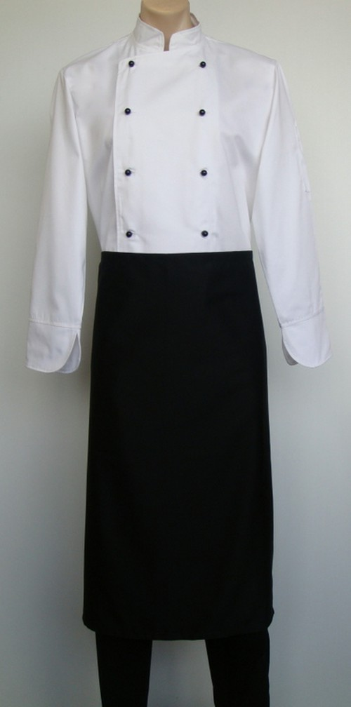 90 by 90 Apron, black with pocket
