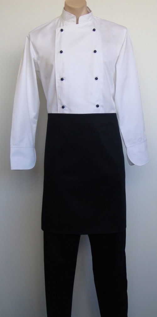 Half Apron, black with pocket