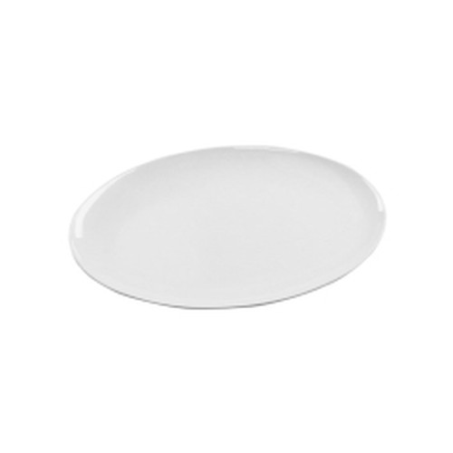 Melamine Oval Coupe Platter, White, 400x295mm