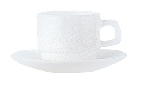 Restaurant Style White cup saucer, 140mm