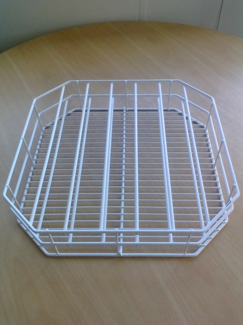 Dish washrack plastic coating 7 divisions for plates, 430x430mm