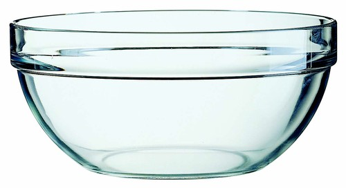 Arc Stackable Bowl, 230mm - Tempered glass