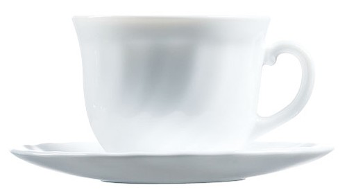 Arc Trianon white cup & saucer set, 220mm
