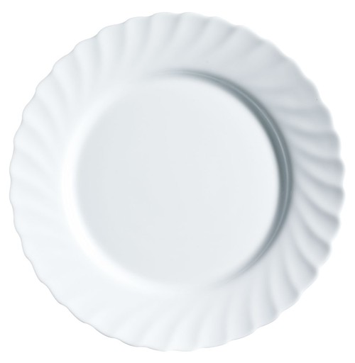 Arc Trianon white round rim plate, 273mm