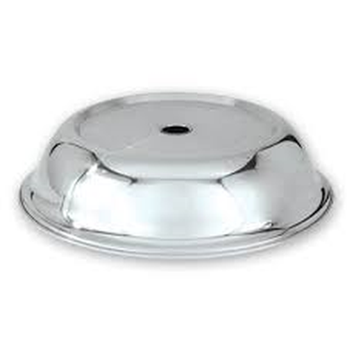 Plate cover stainless steel, flat lidded, 240mm, 70709