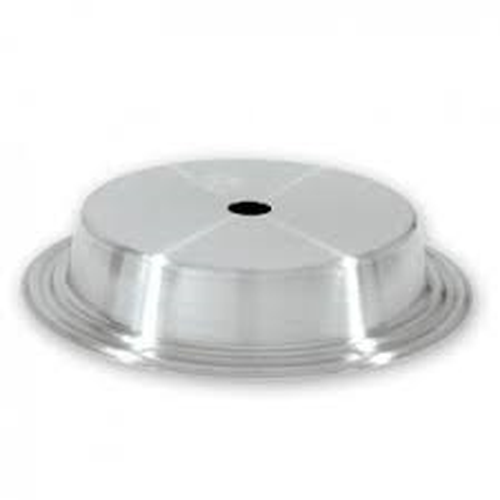 Plate cover stainless steel, flat lidded, multi-fit, 230 - 250mm, 70728