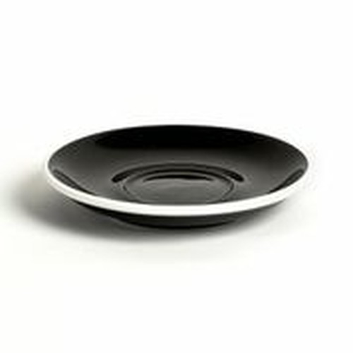 ACME Black coloured latte saucer, 155mm, ACA-086.
