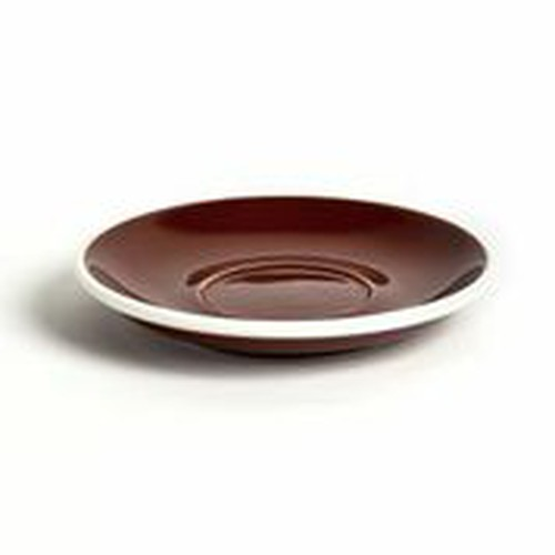 ACME Brown coloured latte saucer, 155mm, ACB-086.