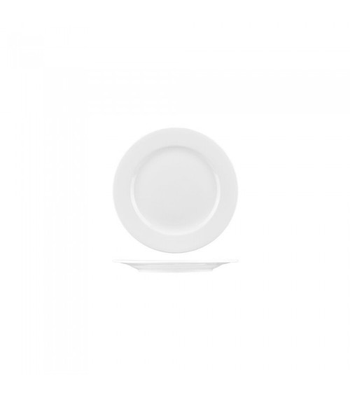 Longfine Round Rim Plate, white, 420mm, 1107C