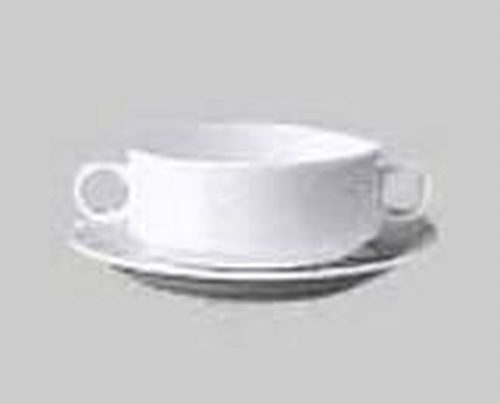 Longfine Classic Stack Soup Bowl 260ml, with handles,1148