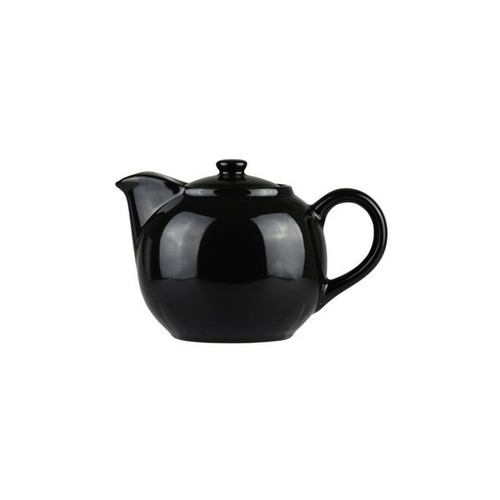 Longfine Porcelain Black Infuser Teapot, 620ml, 400117C