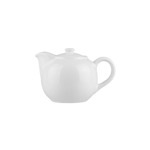 Longfine Porcelain White Infuser Teapot, 620ml, 400117E