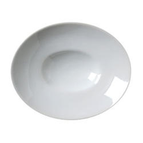 Vertex Oval bowl with raised wide rim, 250mm.