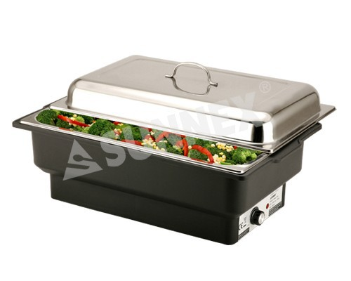 Sunnex EcoCater rectangular Electrical chafer, full size.