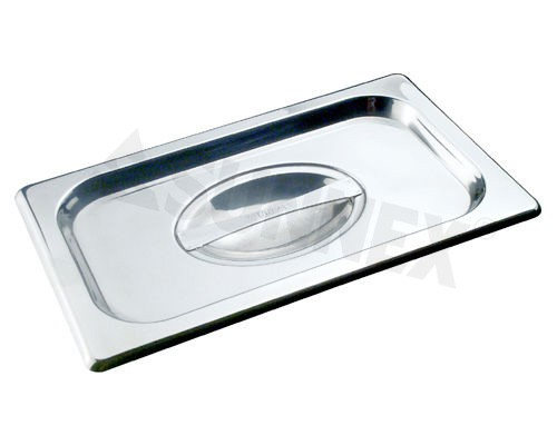 Sunnex Gastronorm food pan, flat lid 1/9 size.