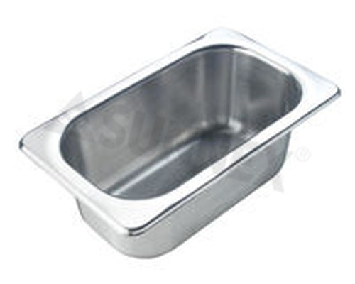 Sunnex Gastronorm food pan solid, 1/9 size, 100mm deep
