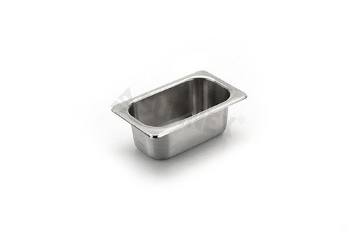 Sunnex Gastronorm food pan solid, 1/9 size, 65mm deep