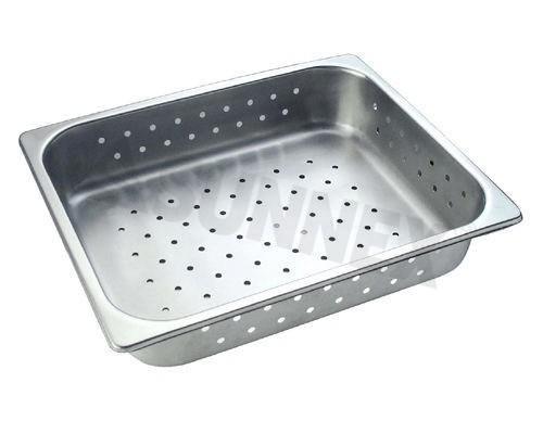 Sunnex Gastronorm food pan perforated, 1/2 size, 65mm deep