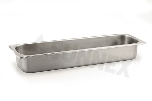 Sunnex Gastronorm food pan solid, 2/4 size, 100mm deep
