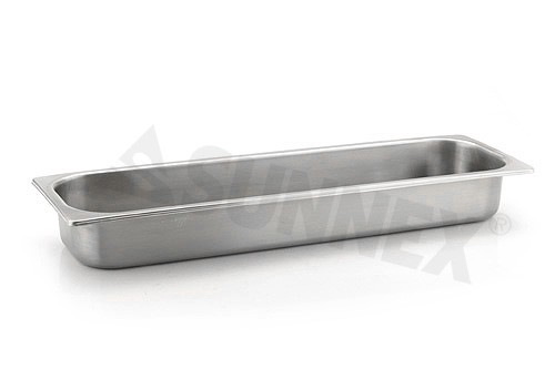 Sunnex Gastronorm food pan solid, 2/4 size, 65mm deep